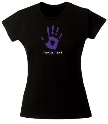 T Shirt Purple Hand