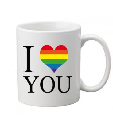 Mug gay lesbien I LOVE YOU