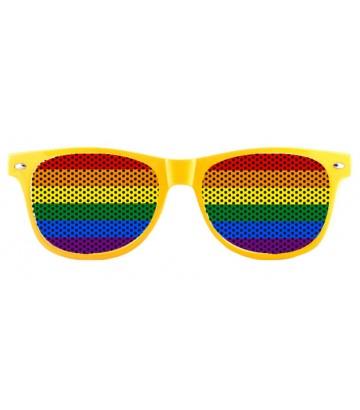 Lunettes fun jaunes rainbow