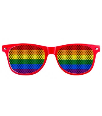 Lunettes fun rouge rainbow
