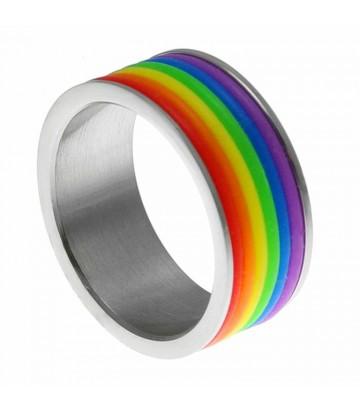 Bague anneaux rainbow