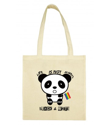 Tote bag Panda arc en ciel