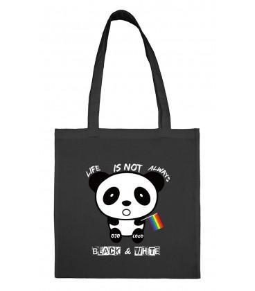 Tote bag Panda arc en ciel gay lesbien