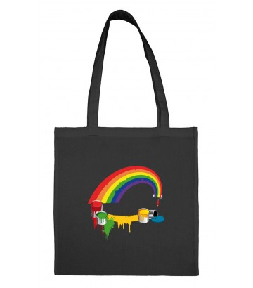 Tote bag rainbow paint gay lesbien