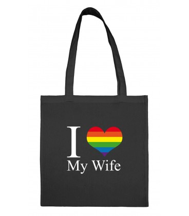 Tote bag I love my wife