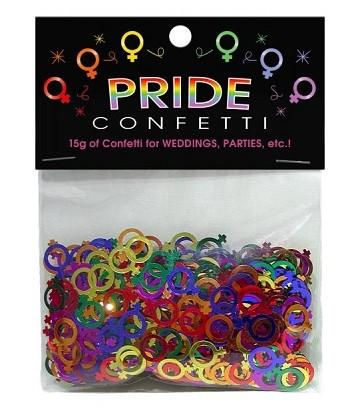 Confettis lesbien arc en ciel