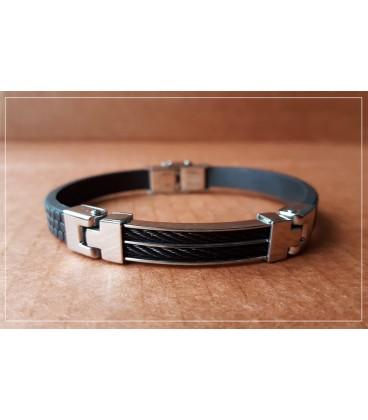 Bracelet design noir cable