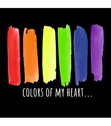 T shirt Colors of my heart