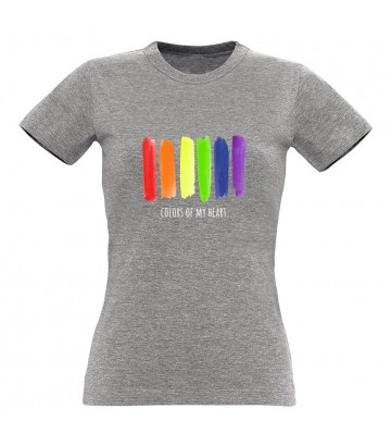 T shirt gay lesbien Colors of my heart