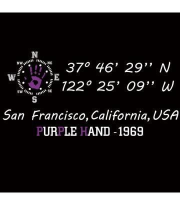 Tee shirt GPS Purple Hand