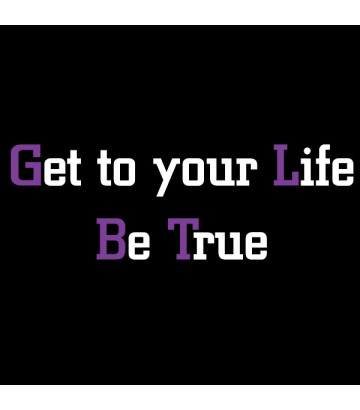 T shirt Get your Life Be True de la marque Gay et Lesbienne Purple Hand