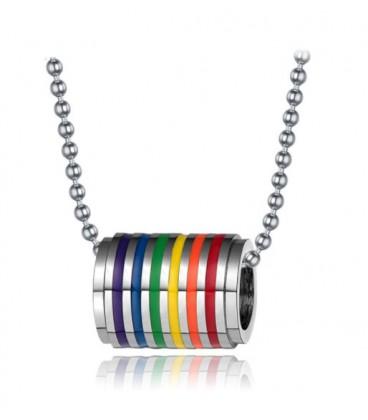 Pendentif anneau Rainbow