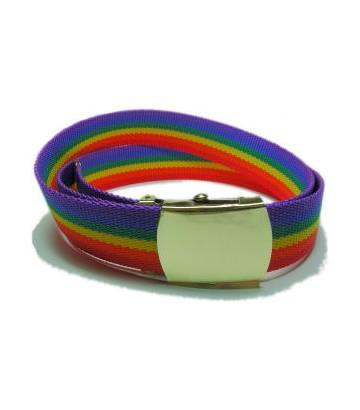 Ceinture rainbow LGBT gay lesbienne en nylon
