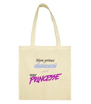 Totebag mon prince est une princesse