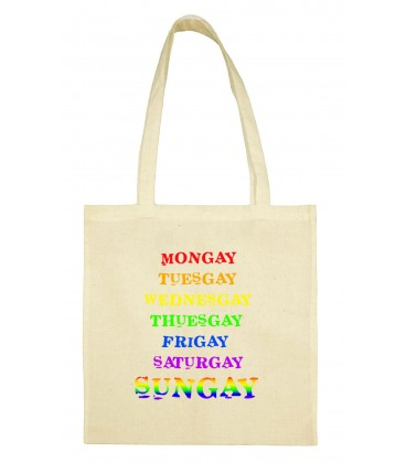 Totebag rainbow Week