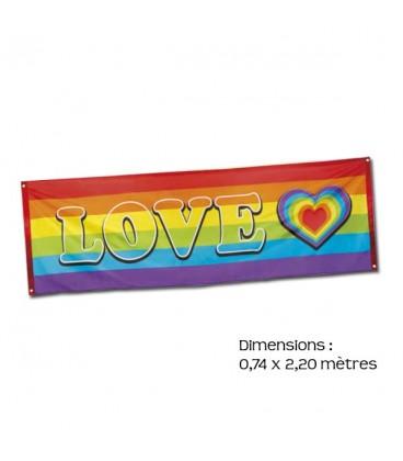 Bannière Rainbow LOVE LGBT gay lesbienne