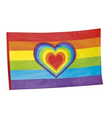 Drapeau coeur Rainbow
