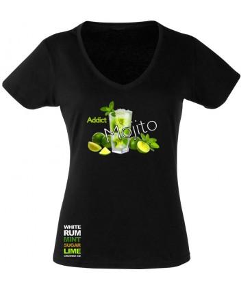 tee shirt mojito col V femme M