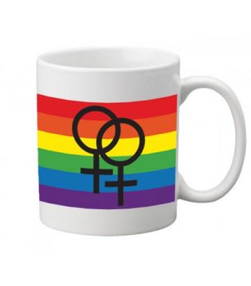 Mug drapeau lesbien