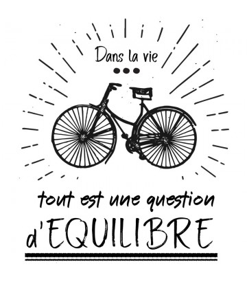 "T SHIRT ""Question d'équilibre"""