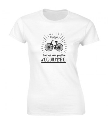 T SHIRT original avec un vélo