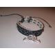 Bracelet cuir gay noir