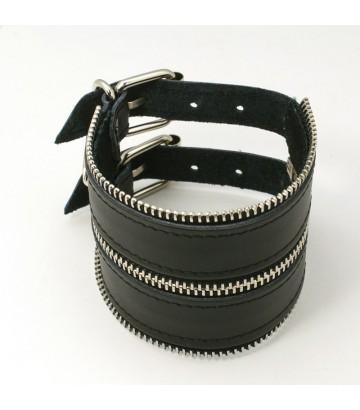 Bracelet double boucle fermeture éclair