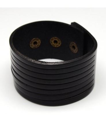 Bracelet noir huit rangs