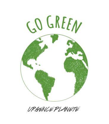 Tee shirt GO GREEN planète verte