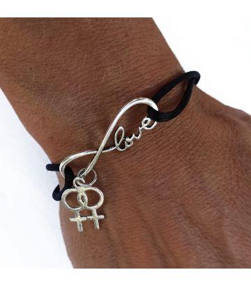 Bracelet lesbien love infini