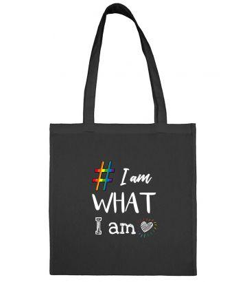 sac en toile noir I am what I am