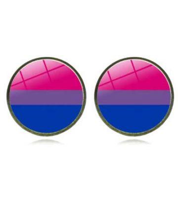Boucle d'oreille drapeau bisexuel