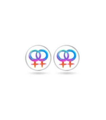 Boucle d'oreille double vénus lesbienne
