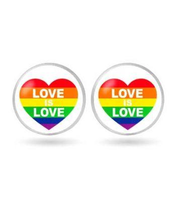 Boucle d'oreille Love is Love rainbow