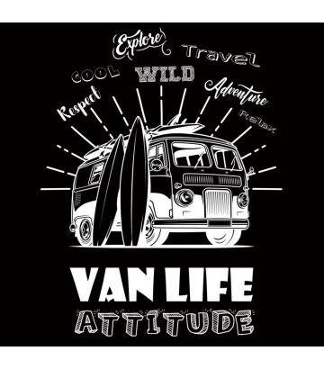 Tee Shirt Van Life Attitude