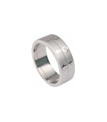 Bague double satin Gay