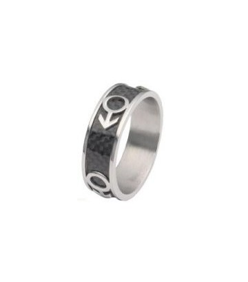 Bague fibre carbone (gay)