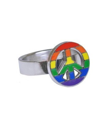 Bague rainbow Peace & Love