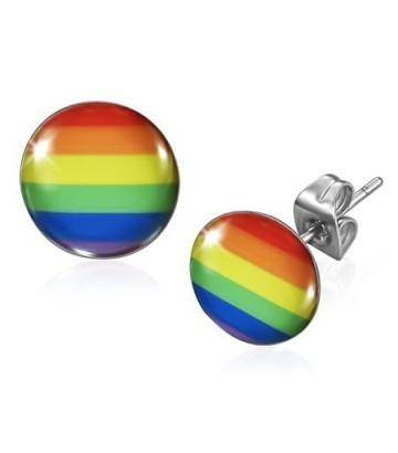 Boucle d'oreille ronde Rainbow