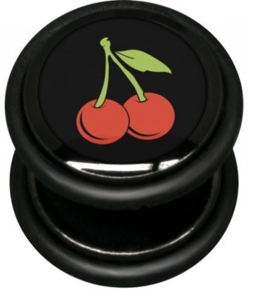 Boucle fake plug cerise